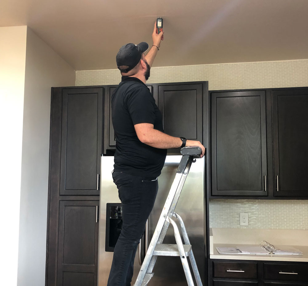 Home inspection in Jacksonville, FL, in progress.